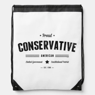 Proud Conservative American Cinch Bags