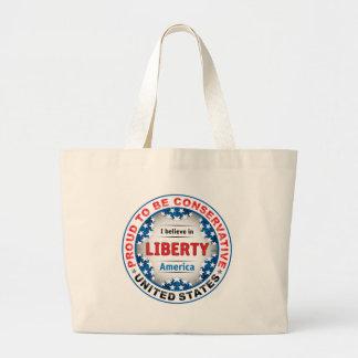 Proud Conservative Jumbo Tote Bag