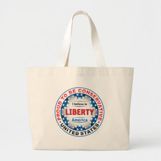 Proud Conservative Jumbo Tote Bag