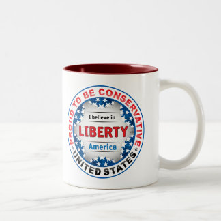 Proud Conservative Two-Tone Coffee Mug