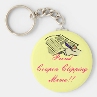 Proud Coupon Clipping Mama Basic Round Button Keychain