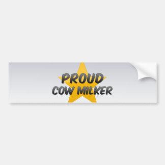Proud Cow Milker Bumper Sticker