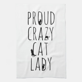 Proud Crazy Cat Lady Kitchen Towel