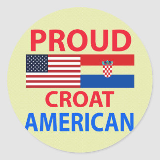 Proud Croat American Classic Round Sticker
