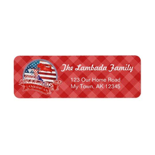 Proud Croatian American Address Labels Template