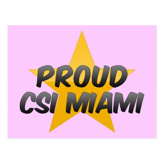 Proud Csi Miami Postcard