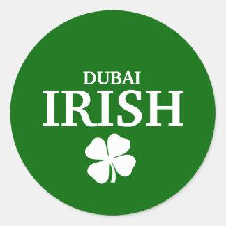 Proud Custom Dubai Irish City T-Shirt Round Sticker