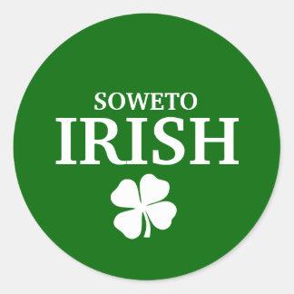 Proud Custom Soweto Irish City T-Shirt Round Stickers