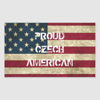 Proud Czech American Sticker