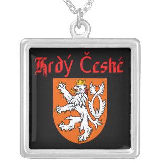 Proud Czech Square Pendant Necklace