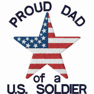 Proud Dad of a US Soldier Embroidered Polo Shirt