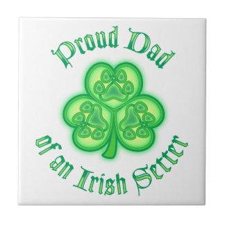 Proud Dad of an Irish Setter Tile