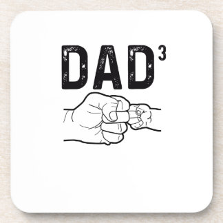 Proud Dad Of Three Daughters Or Sons Mens T-Shirt Coaster