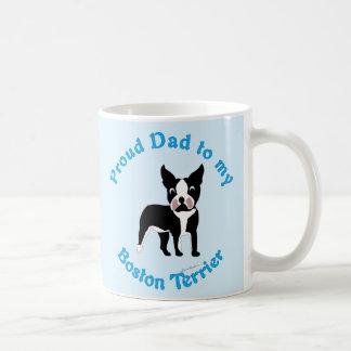 Proud Dad to a Boston Terrier Coffee Mug
