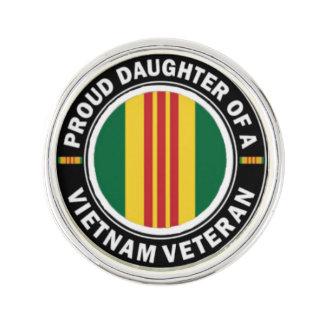 Proud Daughter of a Vietnam Veteran Lapel Pin