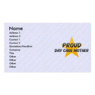 Proud Day Care Mother Business Cards