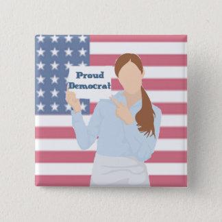 Proud Democrat Woman Button