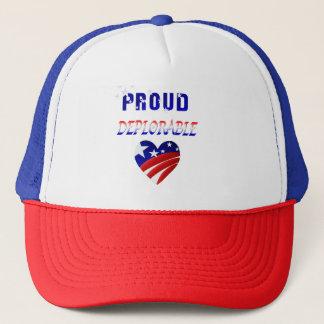 PROUD DEPLORABLE-Love America Trucker Hat