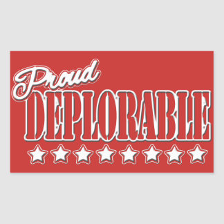 PROUD DEPLORABLE TRUMP GEAR STICKER