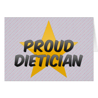 Proud Dietician Greeting Card