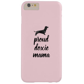 Proud doxie mama - smooth haired silhouette barely there iPhone 6 plus case