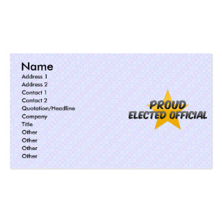 Proud Elected Official Business Card Template