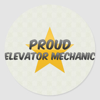 Proud Elevator Mechanic Classic Round Sticker