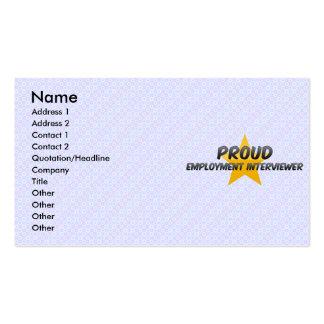 Proud Employment Interviewer Business Card Templates