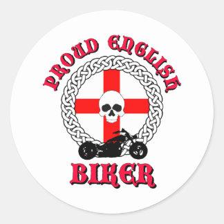 Proud English Biker Classic Round Sticker