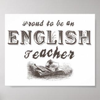 Proud English Teacher Victorian Poster