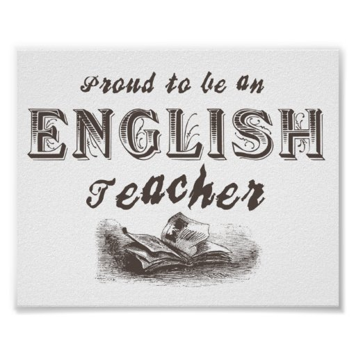 Proud English Teacher Victorian Poster