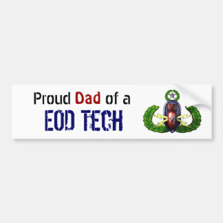 Proud, EOD Tech, EOD dad Bumper Sticker