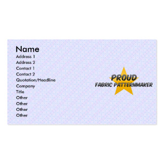 Proud Fabric Patternmaker Business Cards