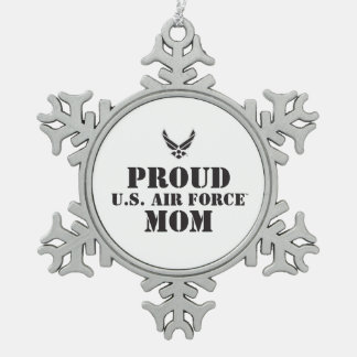 Proud Family – Black Logo & Star Snowflake Pewter Christmas Ornament
