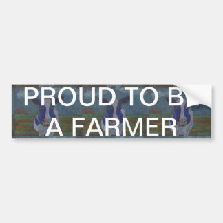 Proud Farmer Dairy Cow Bumper Sticker