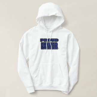 Proud Father Blue Worded Hoodies