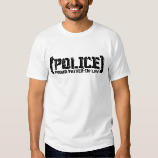 Proud Father-in-law - POLICE Tattered Tshirt