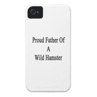 Proud Father Of A Wild Hamster iPhone 4 Case-Mate Cases