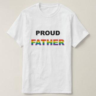 Proud Father Rainbow LGBT T-Shirt