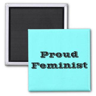 Proud Feminist Square Magnet