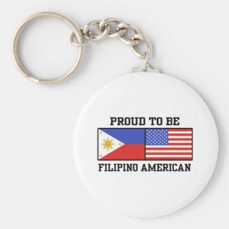 Proud Filipino American Keychain