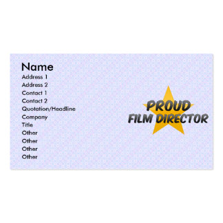 Proud Film Director Business Card Templates