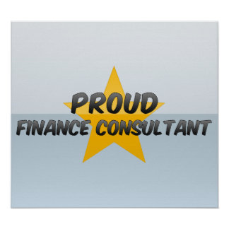 Proud Finance Consultant Print