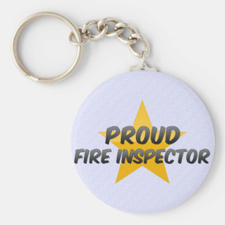 Proud Fire Inspector Basic Round Button Keychain