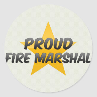 Proud Fire Marshal Classic Round Sticker