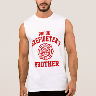 Proud Firefighter's Brother Sleeveless Shirt