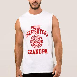 Proud Firefighter's Grandpa Sleeveless Shirt