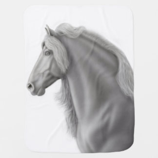 Proud Friesian Horse Baby Blanket