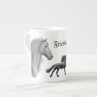 Proud Friesian Horse Customizable Bone China Mug