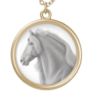 Proud Friesian Horse Necklace